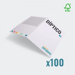 Díptico A5 a color 300g